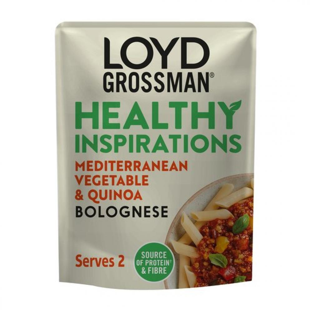 Loyd Grossman Healthy Inspirations Mediterranean Vegetable and Quinoa Bolognese 275g