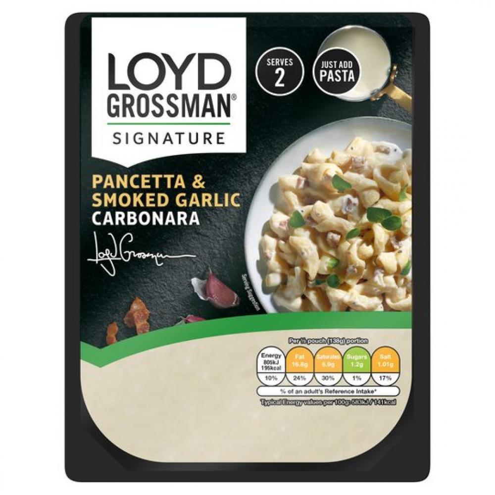 Loyd Grossman Pancetta and Smoked Garlic Carbonara 275g