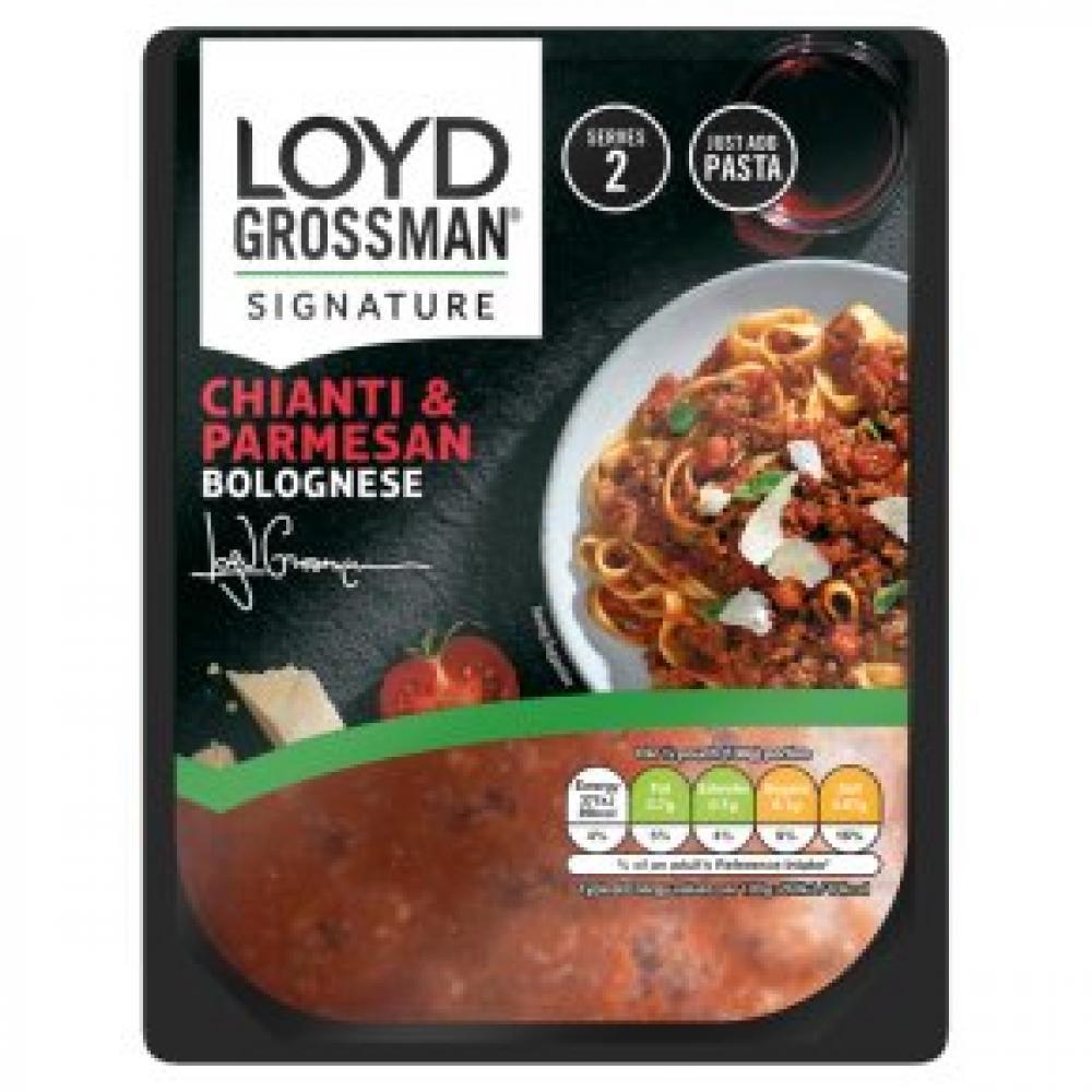 Loyd Grossman Signature Chianti and Parmesan Bolognese 275g
