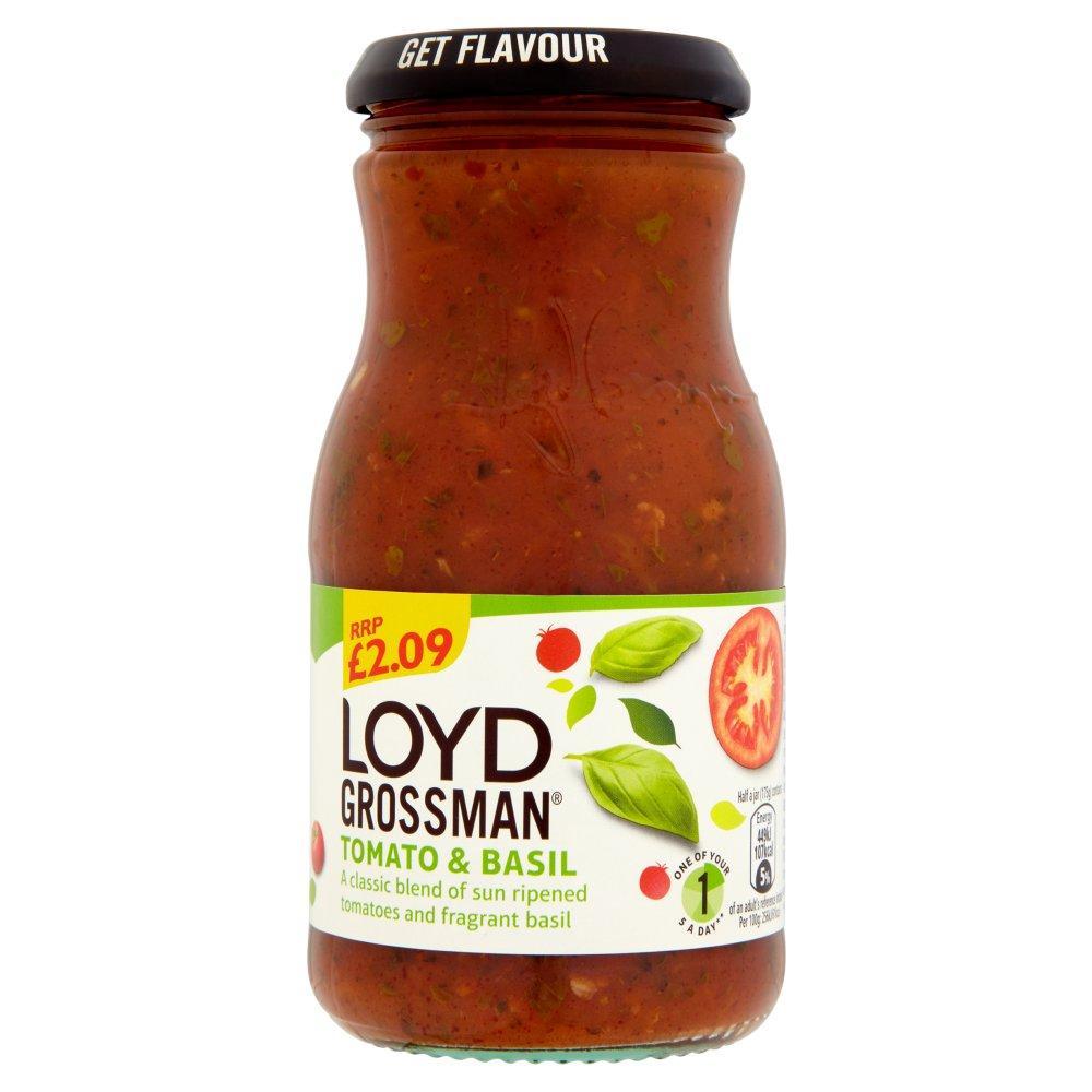 Loyd Grossman Tomato and Basil Sauce 350g
