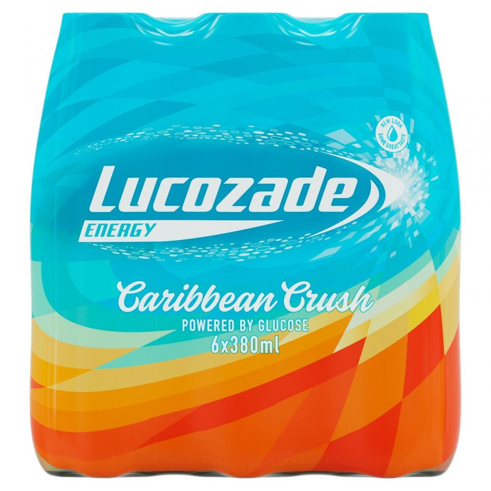 Lucozade Energy Caribbean Crush 380ml x 8
