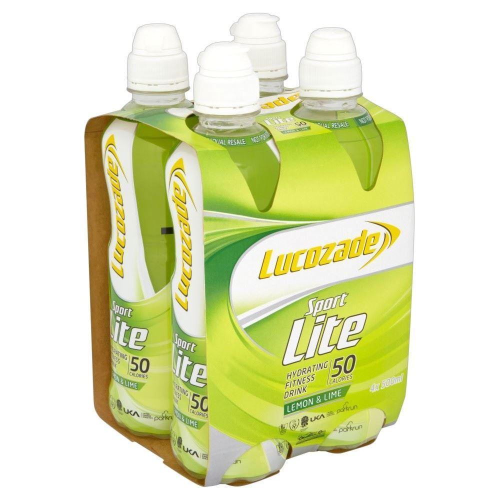 Lucozade Sport Lite Lemon and Lime 500ml x 4