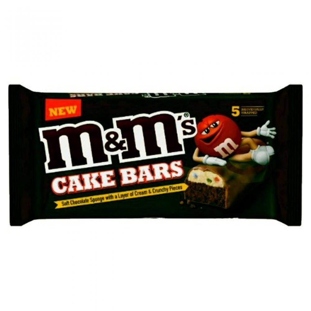 M and Ms Cake Bars 5 pack