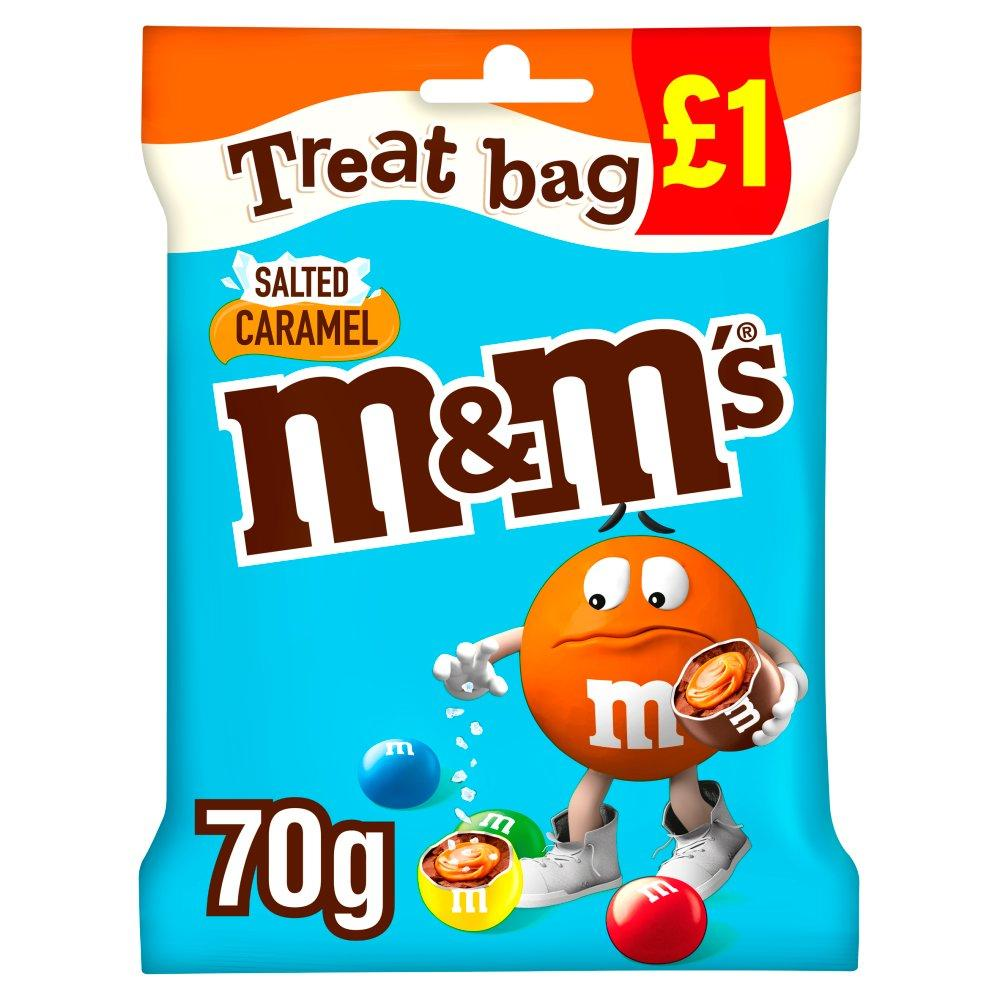M and Ms Salted Caramel Treat Bag 70g