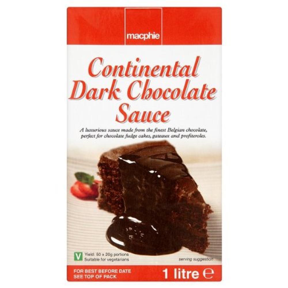 Macphie Continental Dark Chocolate Sauce 1 Litre
