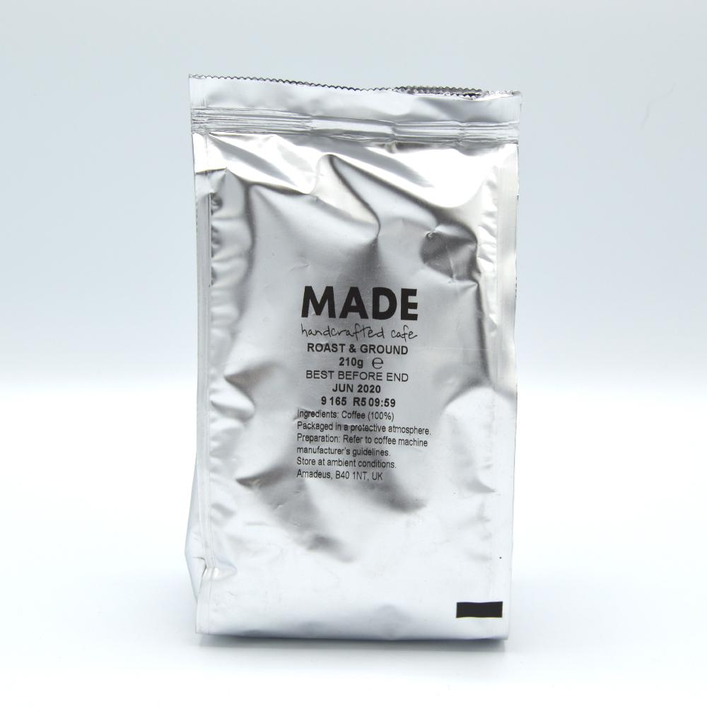 SALE  Made Handcrafted Cafe Ground Coffee 210g