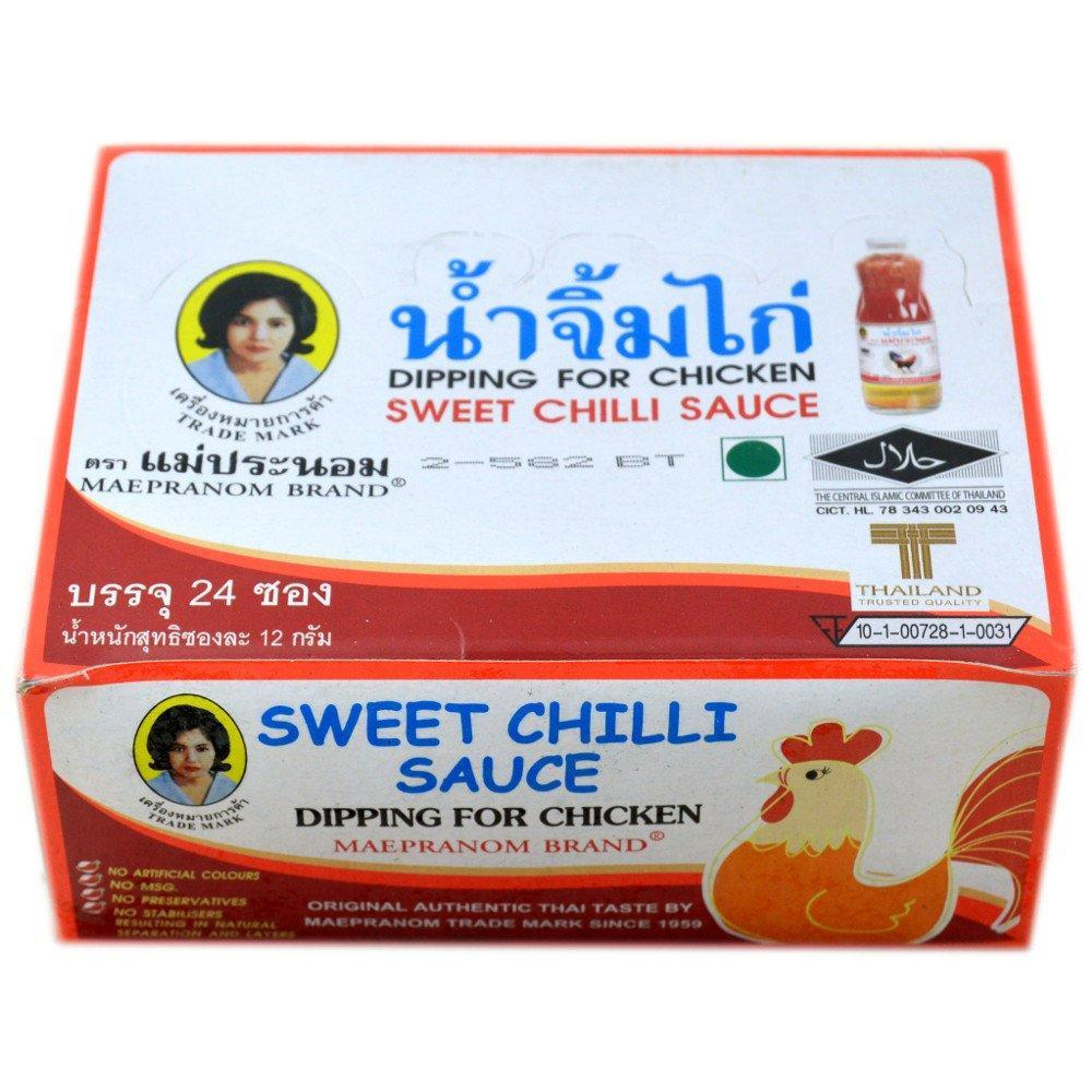Maepranom Brand Sweet Chilli Sauce 12g x 24