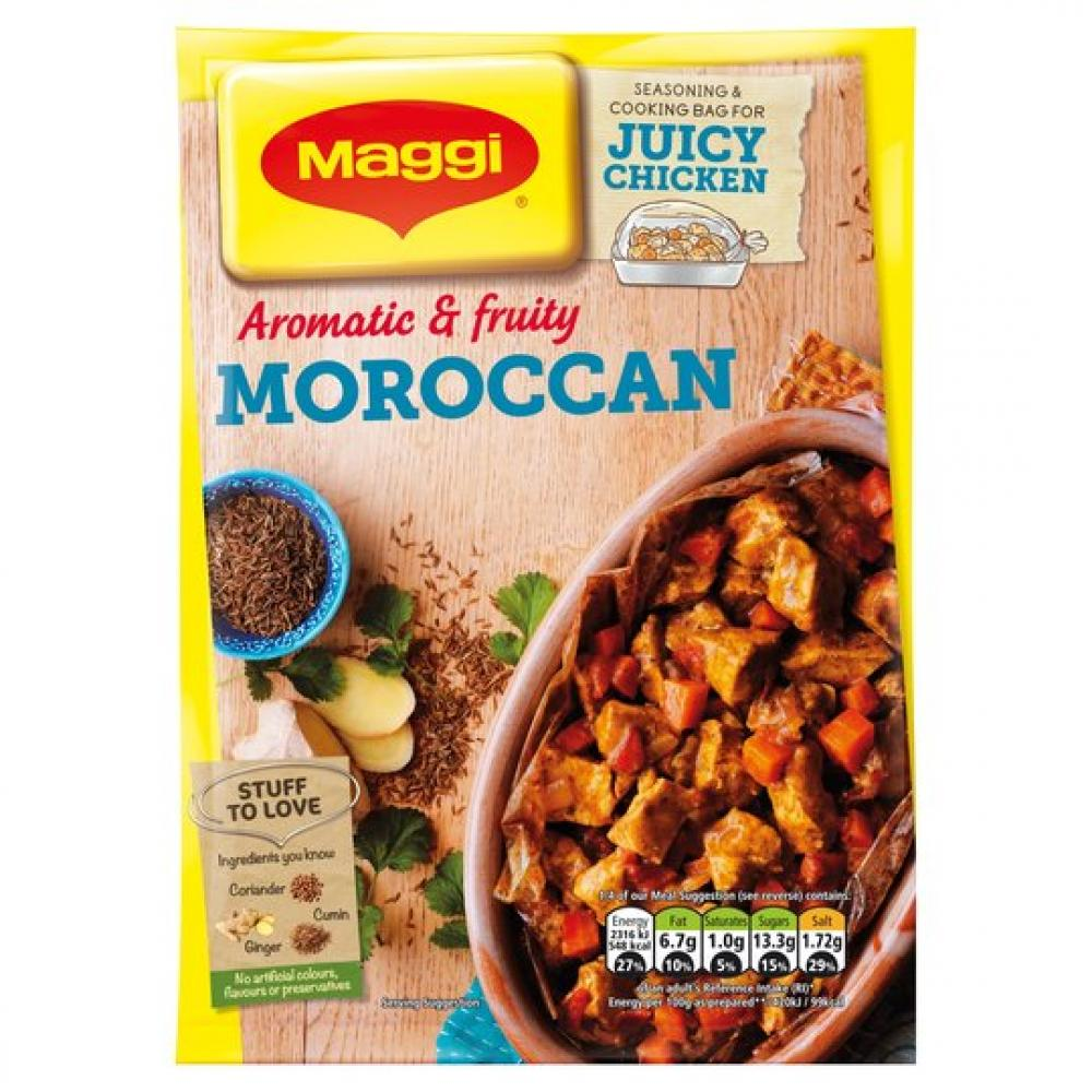 Maggi Aromatic and Fruity Moroccan Seasoning Bag 38g