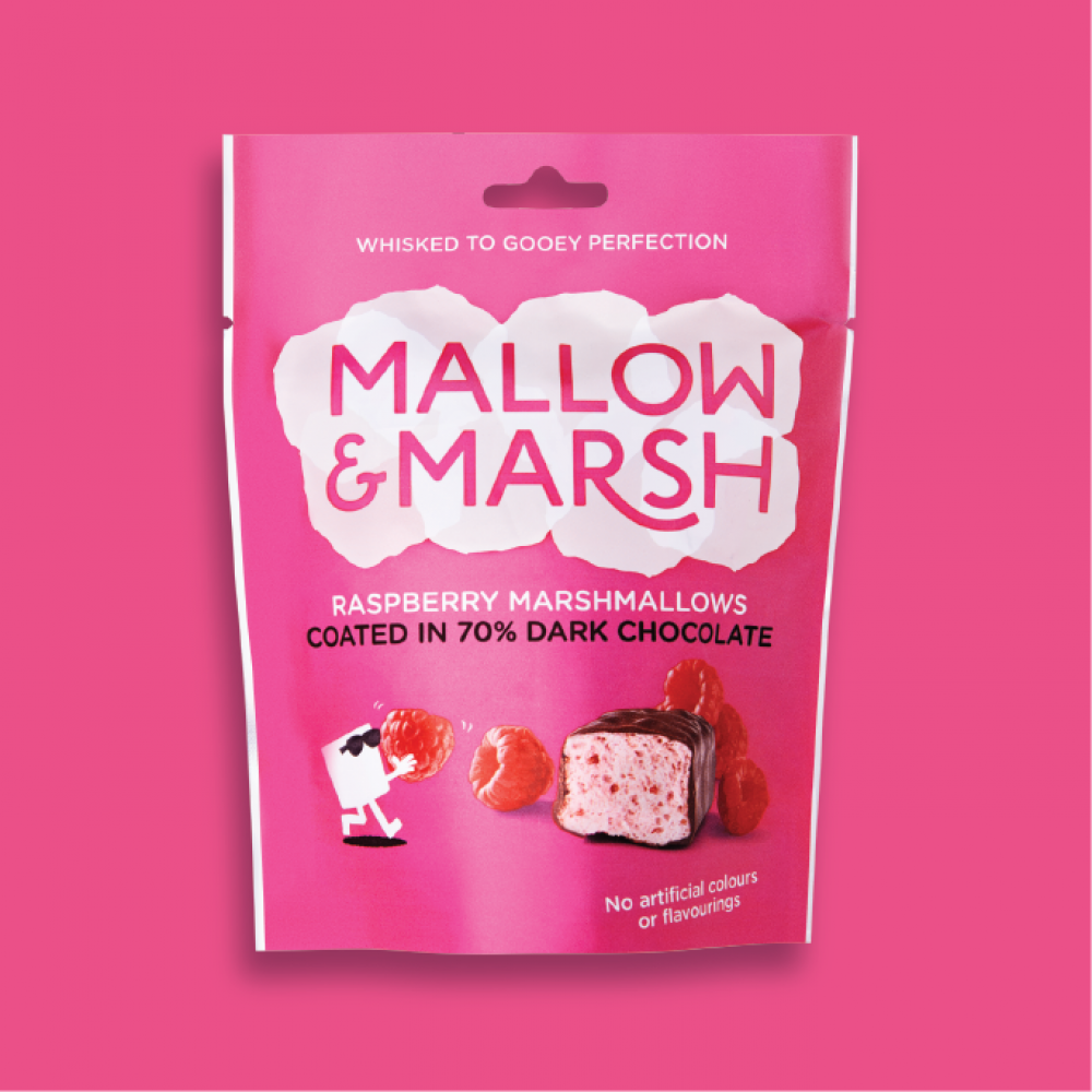 Mallow and Marsh Raspberry and Dark Chocolate Marshmallow 100g