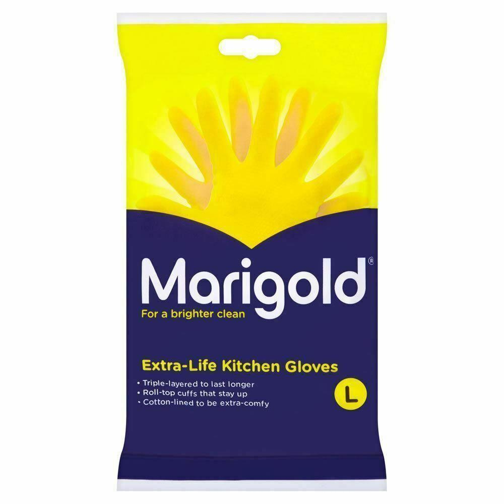Marigold Extra Life Kitchen Gloves Large 1 pair Yellow