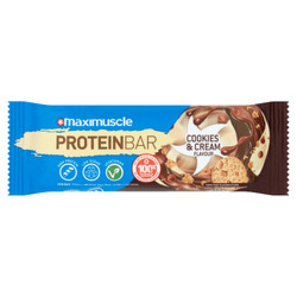 Maximuscle Protein Bars Cookies and Cream 55g