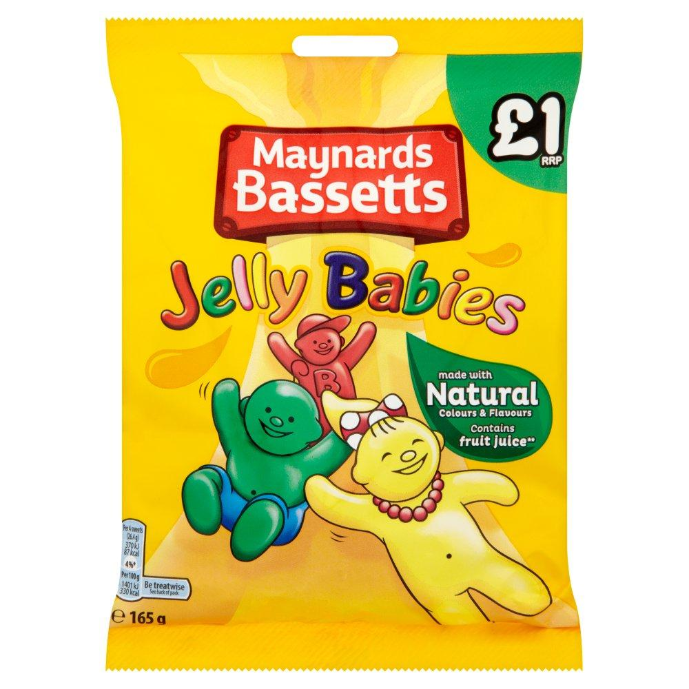 Maynards Bassetts Jelly Babies 165g