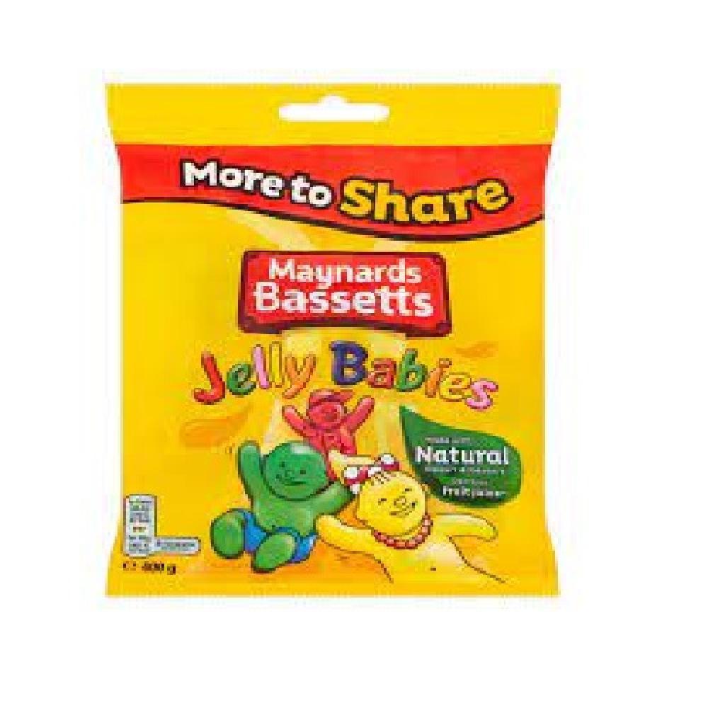 Maynards Bassetts Jelly Babies Share Bag 400g