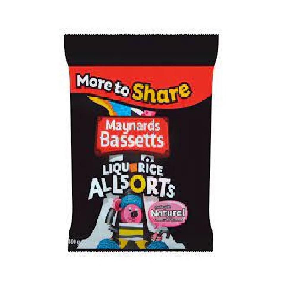 SALE  Maynards Bassetts Liquorice Allsorts Share Bag 400g