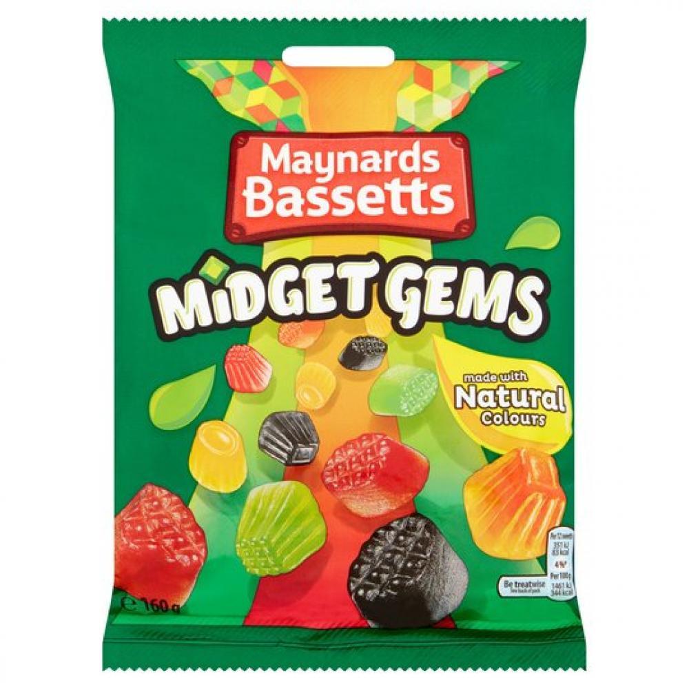 Maynards Bassetts Midget Gems 160g