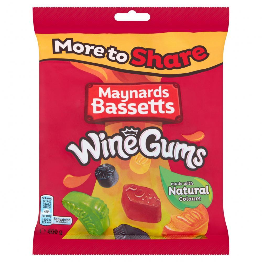 SALE  Maynards Bassetts Wine Gums Share Bag 400g