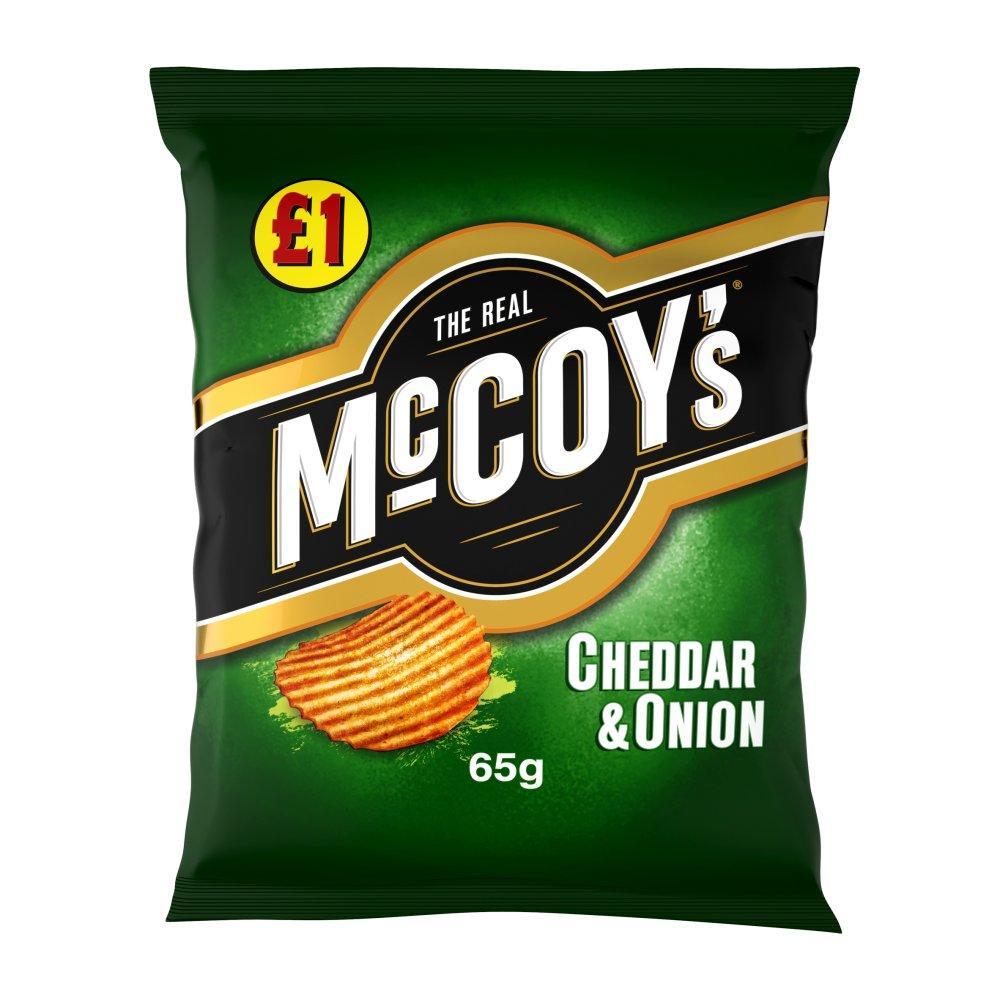 Mccoys Cheddar and Onion 65g