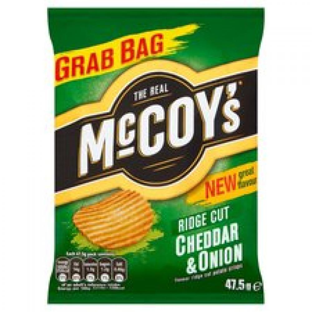 Mccoys Ridge Cut Cheddar And Onion Crisps 47.5g