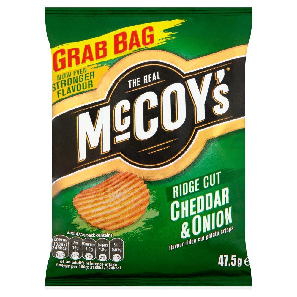 Mccoys Ridge Cut Cheddar And Onion Flavoured Crisps 47.5g