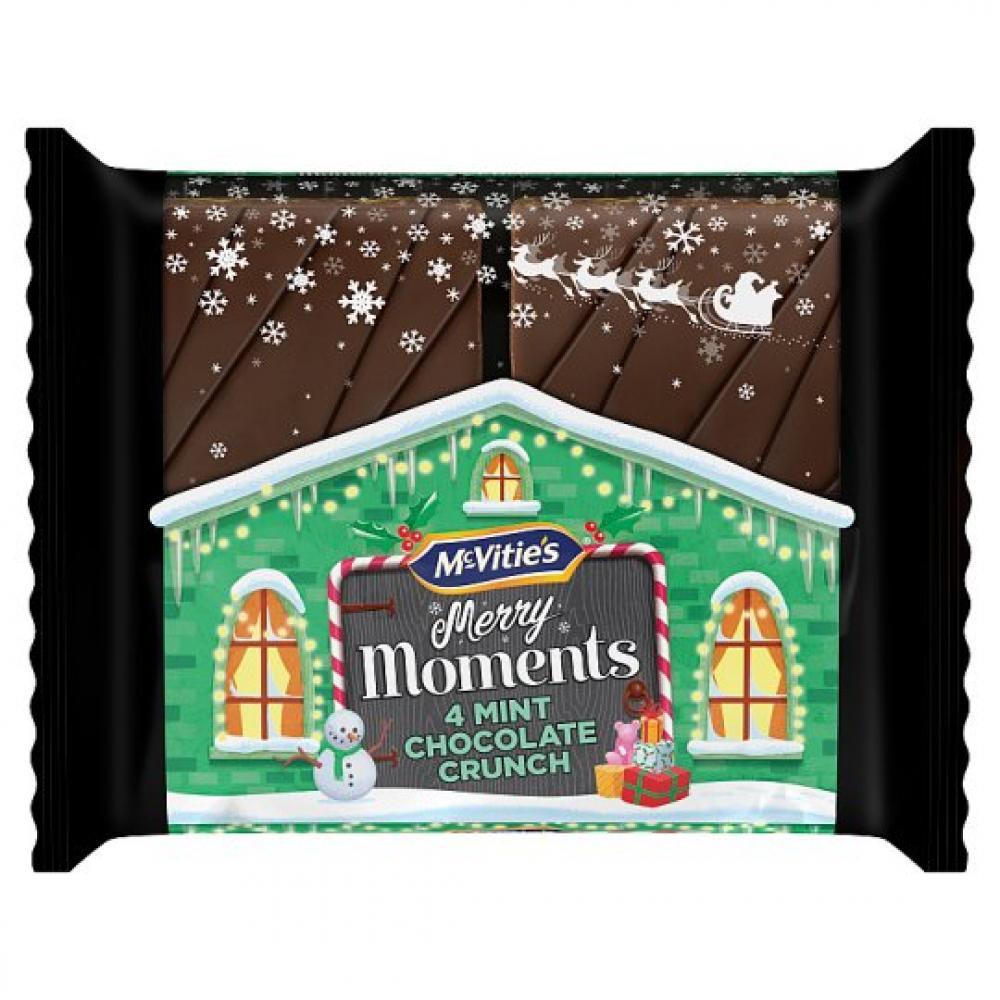 McVities Merry Moments Mint Chocolate Crunch 39.8g x 4