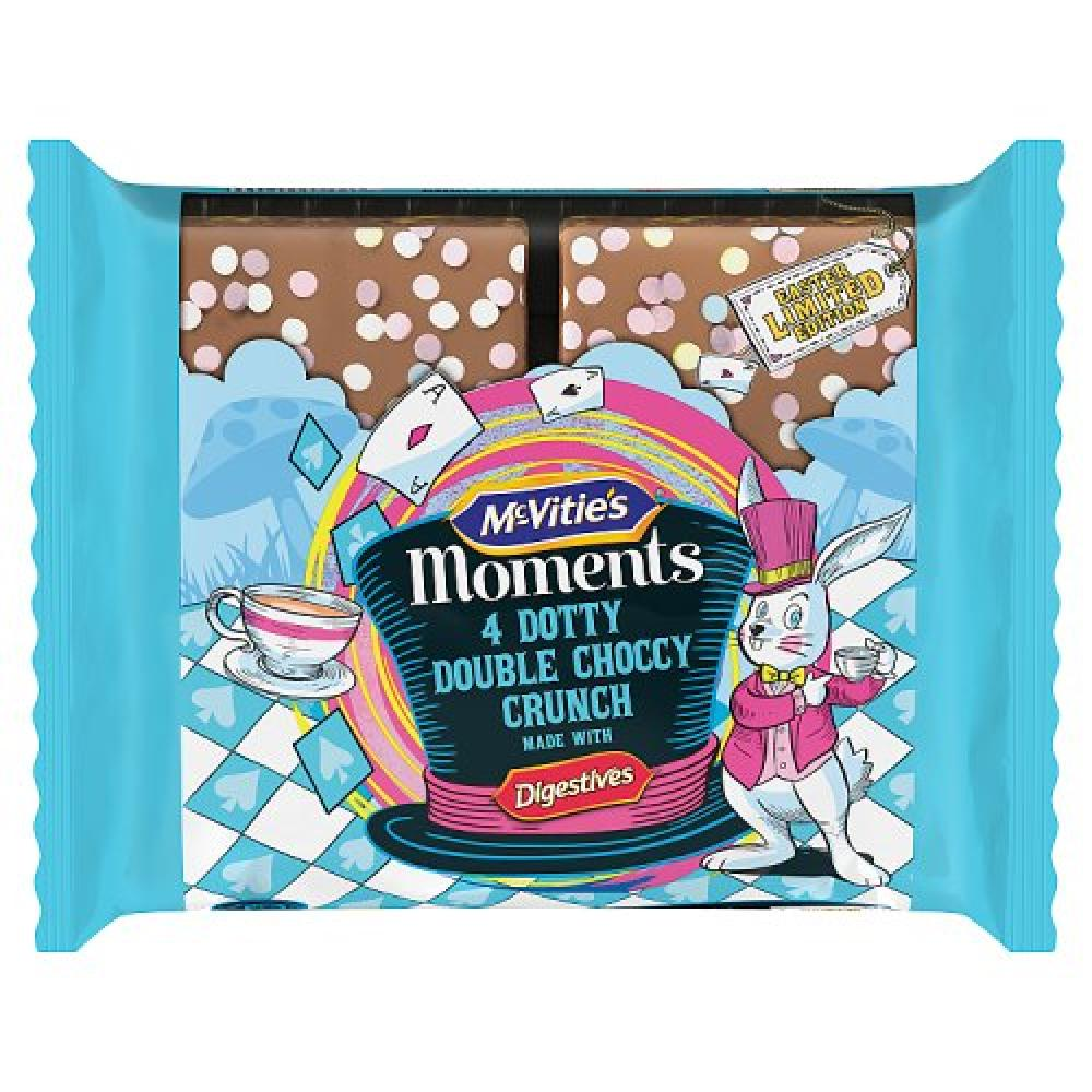 McVities Moments 4 Double Choccy Crunch