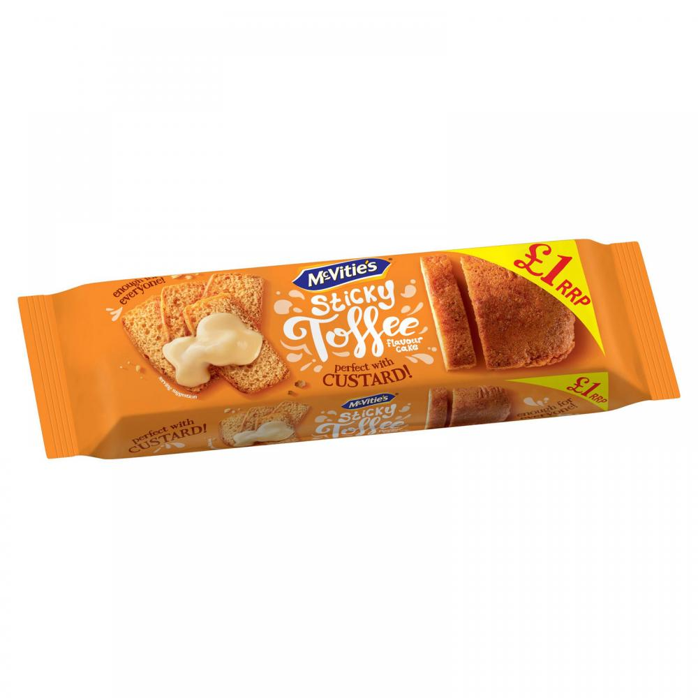 McVities Sticky Toffee Flavour Cake