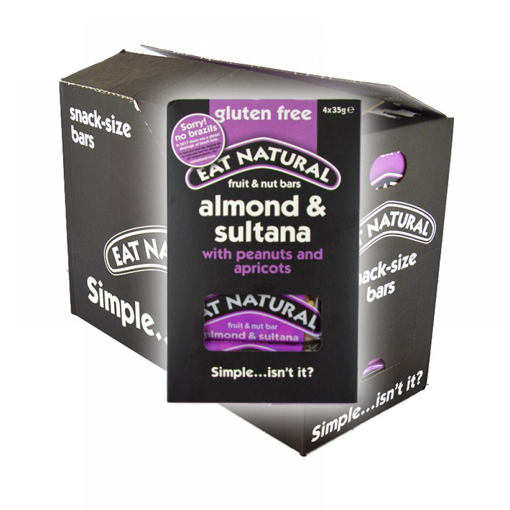 CASE PRICE  Eat Natural Almond and Sultana 12 x 4 Pack