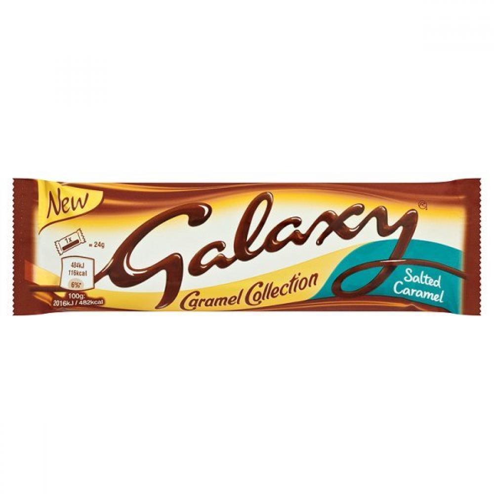 CASE PRICE  Galaxy Salted Caramel Twin Chocolate Bar 24x48g