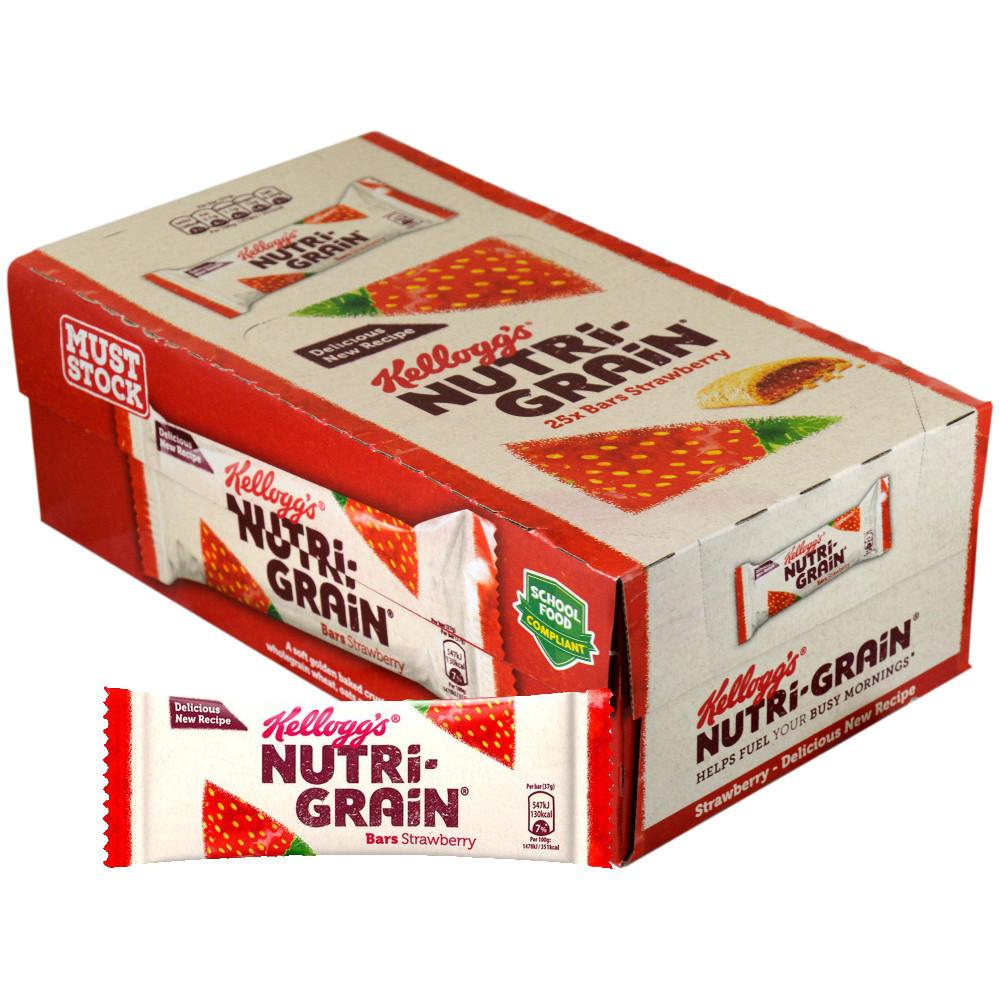 CASE PRICE  Kelloggs Nutri Grain Strawberry Morning Bars 37g x 25