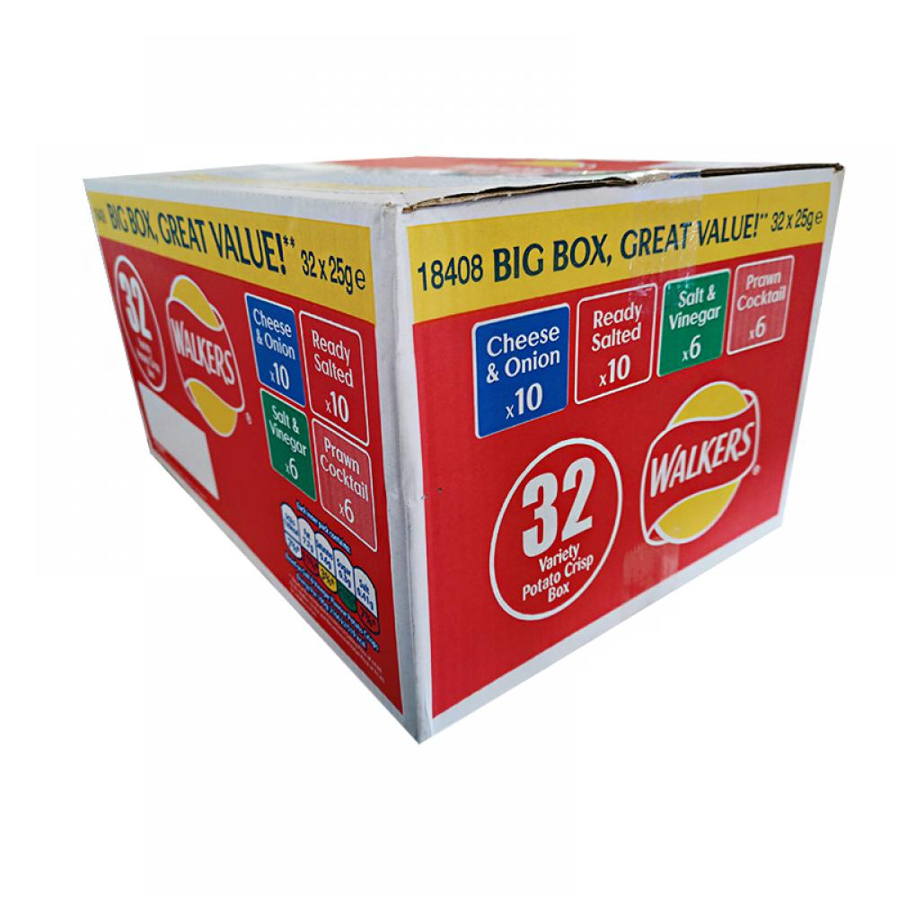 CASE PRICE  Walkers Crisps Variety 32 x 25g