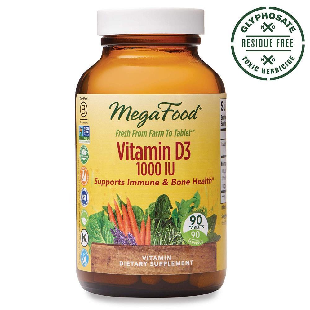 Mega Food Vitamin D-3 1000 IU 90 Tablets