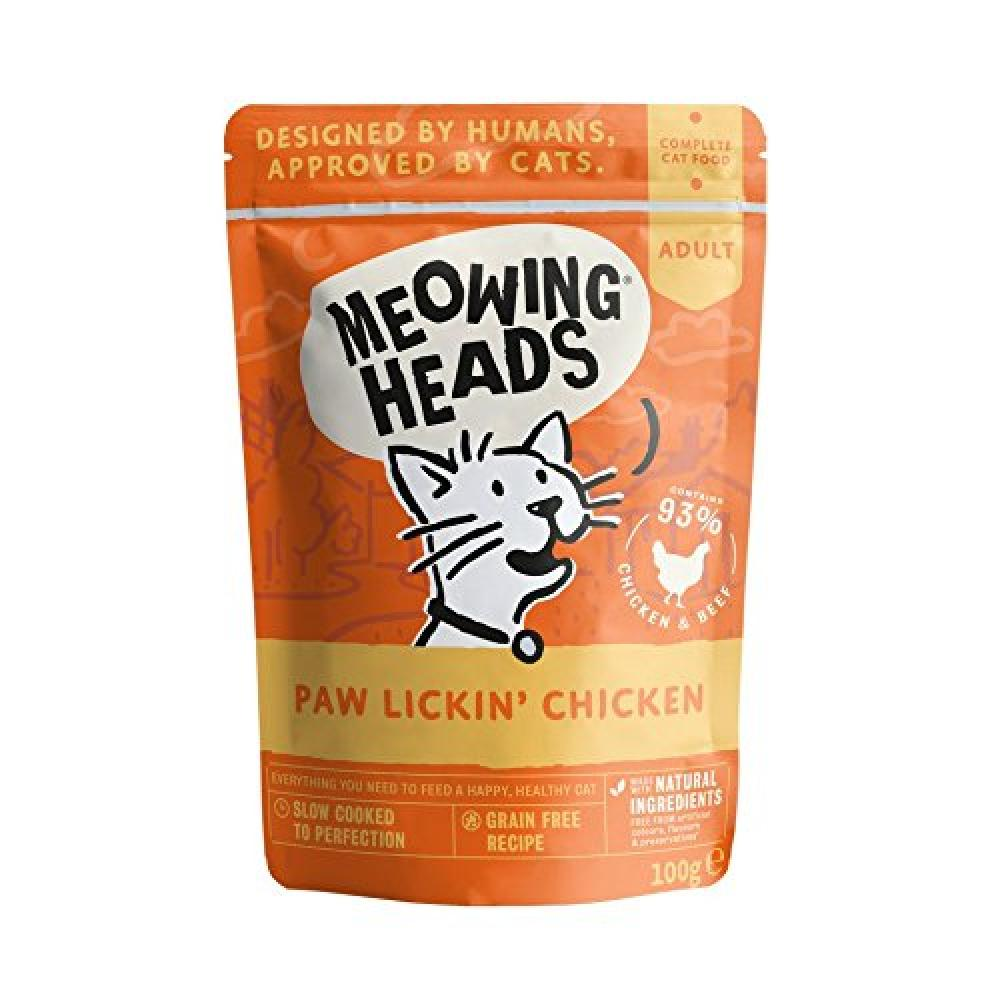 Meowing Heads Paw Lickin Chicken Wet Cat Food 100g