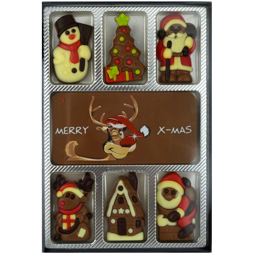 Merry Christmas Decorated Chocolate Slabs 75g