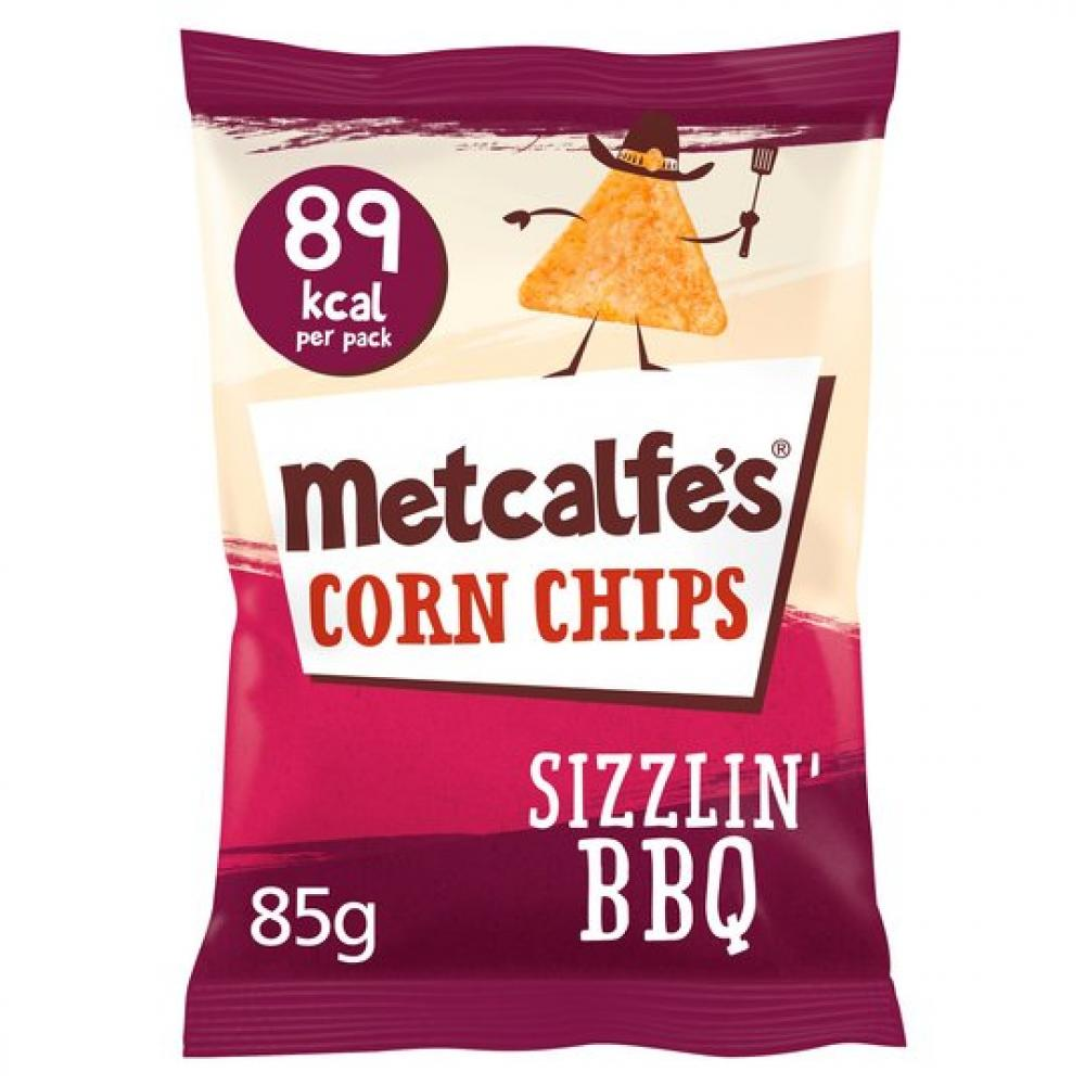 Metcalfes Corn Chips Sizzlin BBQ 22g