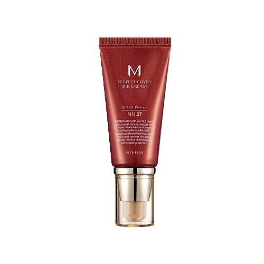 MISSHA M Perfect Cover BB Cream SPF42PA (No. 27Honey Beige) 50ml