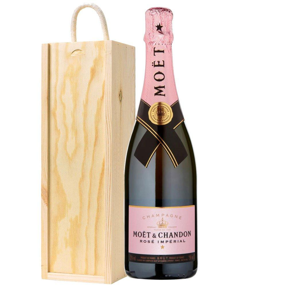 Moet and Chandon Rose Champagne in Wooden Box 750ml