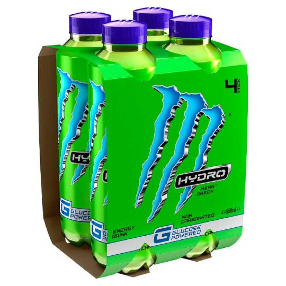 Monster Hydro Mean Green 550ml x 4