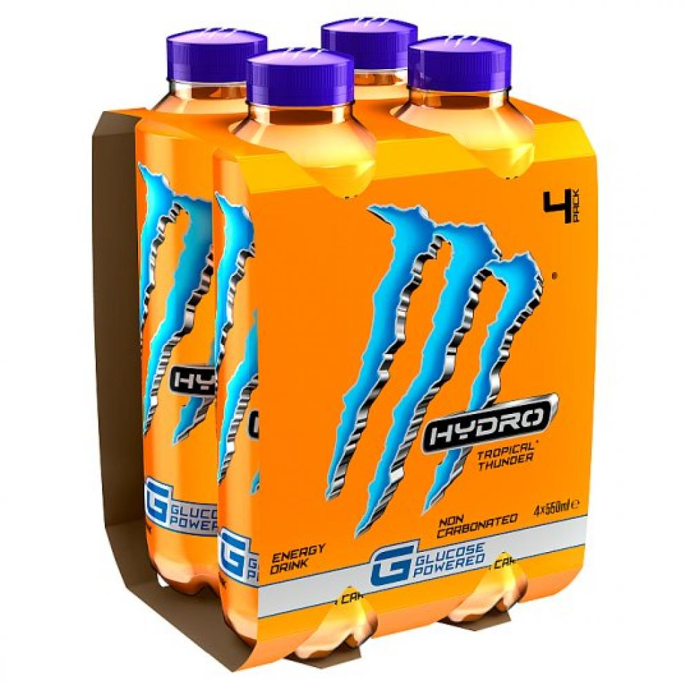Monster Hydro Tropical Thunder 550ml x 4