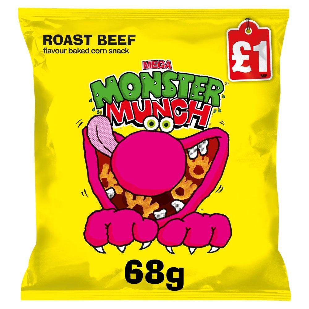 Monster Munch Roast Beef Flavour 68g