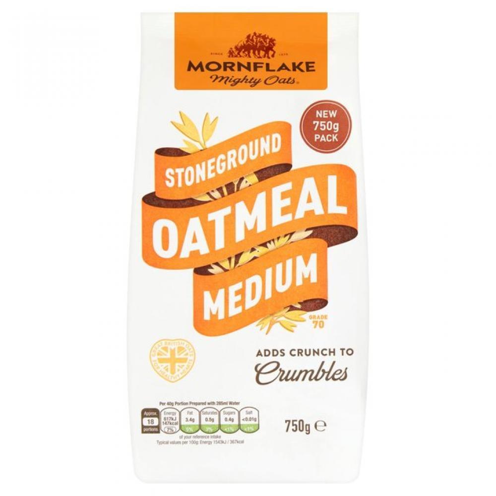 Mornflake Stoneground Oatmeal Medium 750g