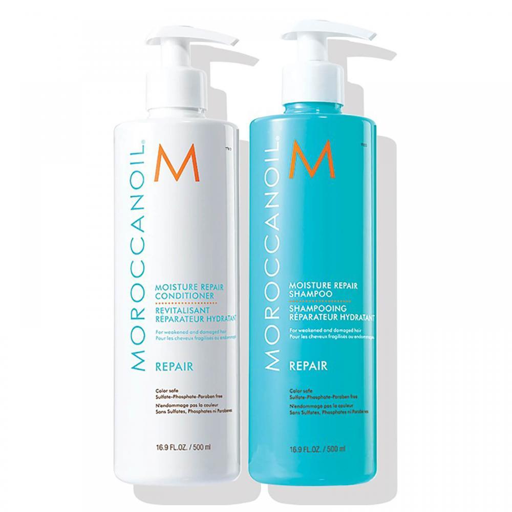 MoroccanOil Moisture Repair Shampoo And Conditioner Set 2x500ml