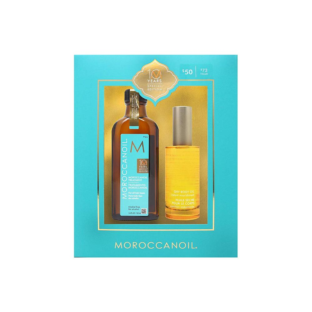 MoroccanOil MoroccanOil 10 Year Anniversary Gift Set 100ml Treatment plus 50ml Dry Body Oil