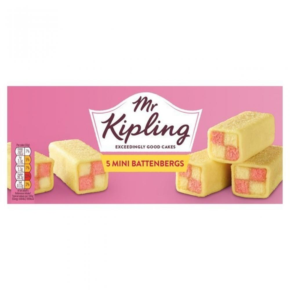 Mr Kipling 5 Mini Battenbergs