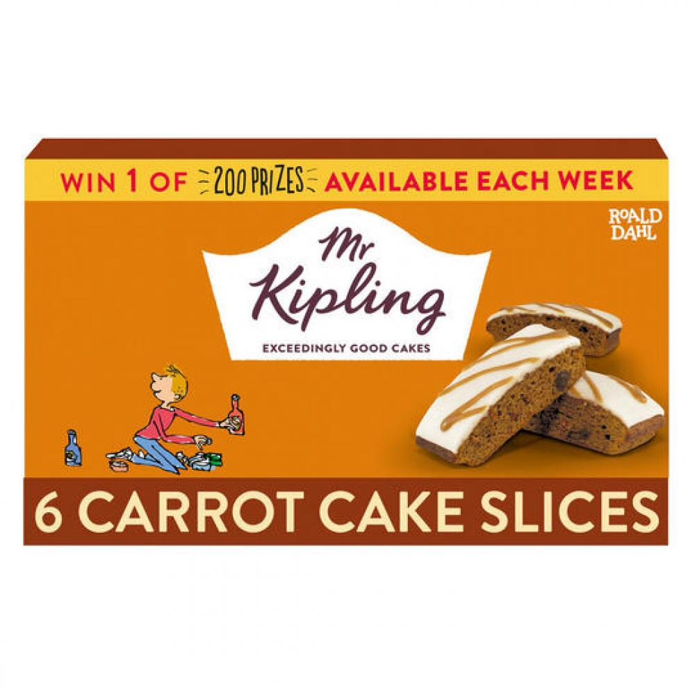 Mr Kipling 6 Carrot Cake Slices