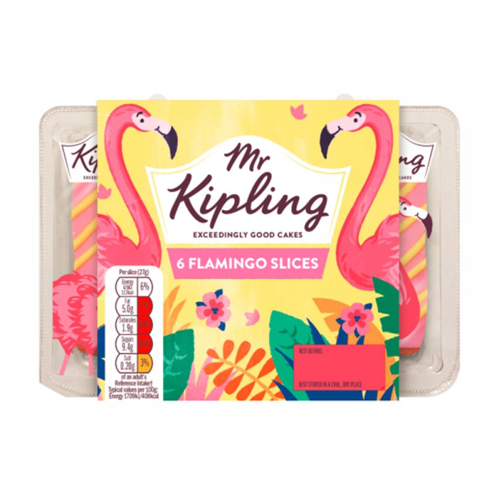 Mr Kipling 6 Flamingo Slices