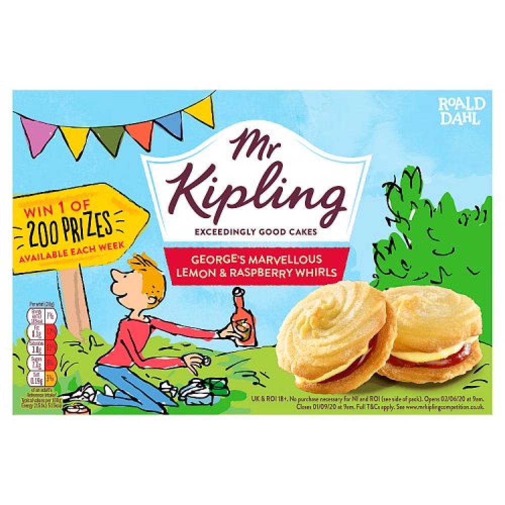 Mr Kipling 6 Lemon and Raspberry Whirls
