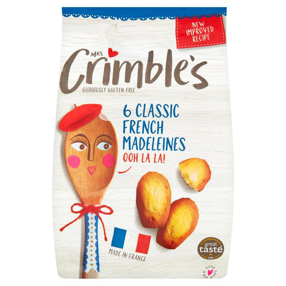 Mrs Crimbles 6 Classic French Madeleines 180g