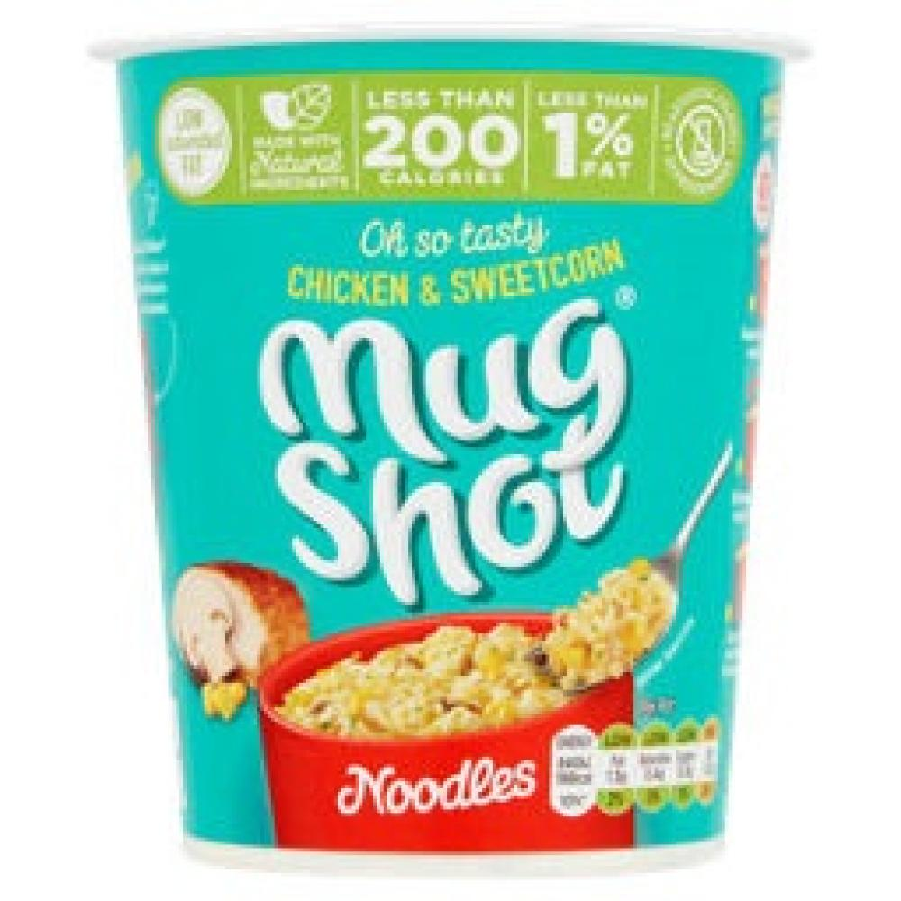 Mug Shot Chicken and Sweetcorn Noodles 54g