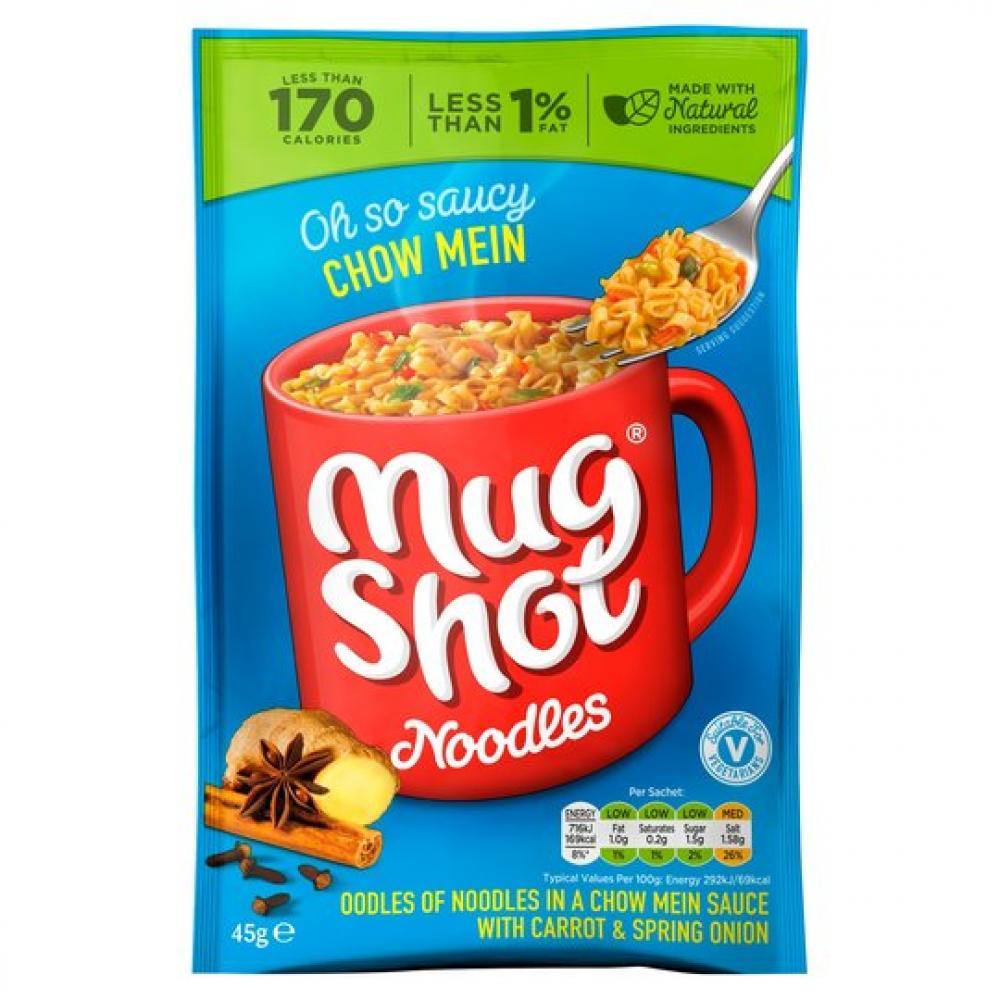 Mug Shot Chow Mein Flavour Noodles 45g