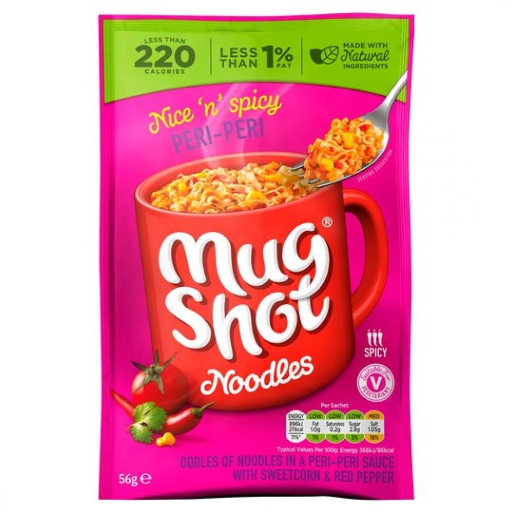 Mug Shot Peri Peri Noodles 56g